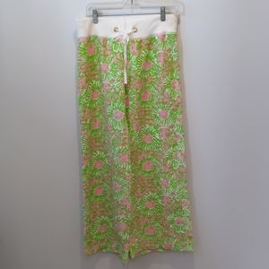 Lilly Pulitzer linen beach pant sunny side lion S